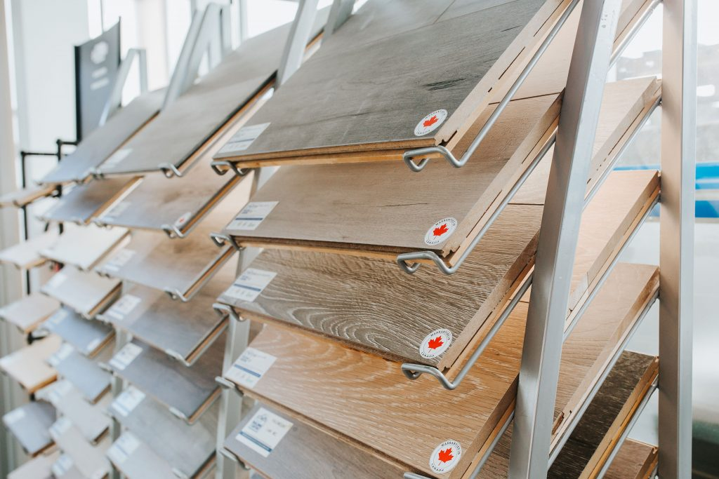 Home renovation planning; wood floor materials available at the 360 Building Centre.